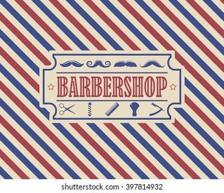 Retro Barber Shop Vintage Design Template