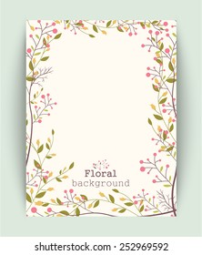 Retro beautiful flower frame