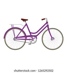 retro bicycle isolated icon
