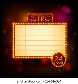 Retro billboard poster vector illustration