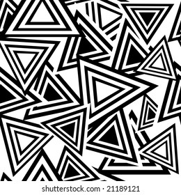 Retro black and white seamless triangle background