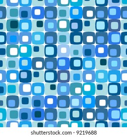 Retro blue square pattern, tiles in any direction.