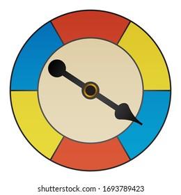 retro board game spinner in color