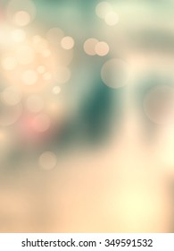 Retro bokeh lights - soft vintage background - abstract blurred urban scene