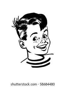 Retro Boy - Clip Art