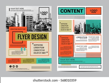 Retro Brochure Layout design template. Annual Report Flyer Leaflet cover Presentation Modern background. illustration vector artwork