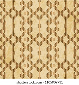 Retro brown cork texture grunge seamless background Mosaic geometry Cross Check Frame