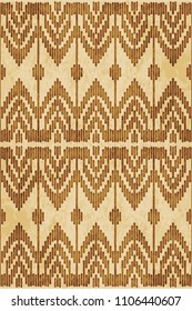 Retro brown cork texture grunge seamless background geometry line woven polygon cross stitch