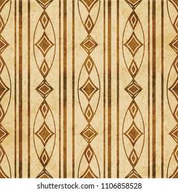 Retro brown cork texture grunge seamless background oval curve cross frame line diamond gem