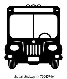 Retro bus, vector illustration