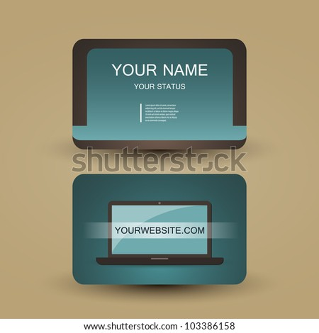 Retro Business Card Template Stock Vector Royalty Free 103386158