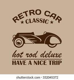 Retro car background