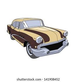 retro car brown