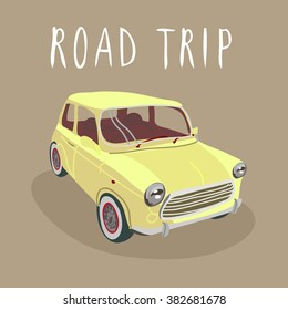 Retro  car isolated. Vector illustration