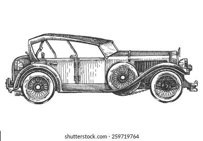 retro car vector logo design template. transport or vehicle icon.