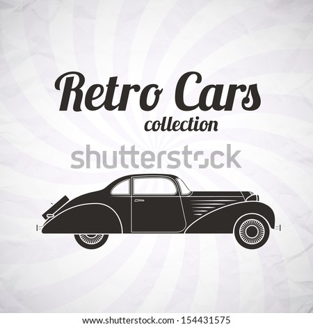 Retro Car Vintage Collection Classic Garage Stock Vector Royalty - Classic car invitations