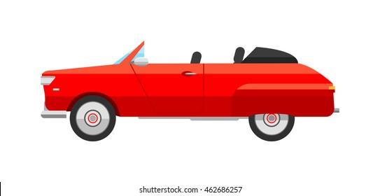 Retro cars icons vintage vector