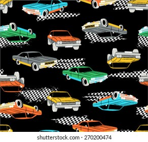 Retro Cars Seamless