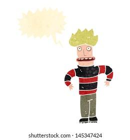 retro cartoon angst man