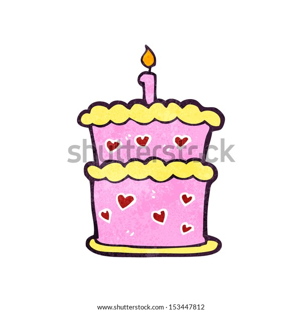 Pleasing Retro Cartoon Birthday Cake Stock Vector Royalty Free 153447812 Funny Birthday Cards Online Alyptdamsfinfo