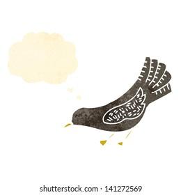 retro cartoon crow