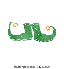 retro cartoon elf shoes