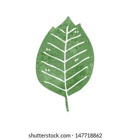 retro cartoon leave symbol
