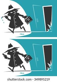 Retro Cartoon spy
