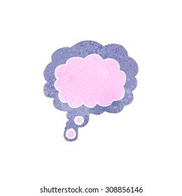 retro cartoon thought cloud