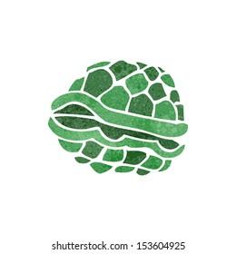 retro cartoon turtle shell
