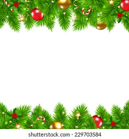 Retro Christmas Wall With Gradient Mesh, Vector Illustration