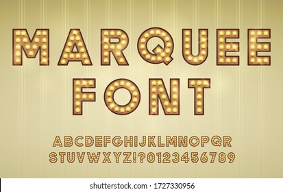 Retro Cinema or Theater Shows Marquee Font for Light Background