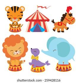 Retro circus vector illustration