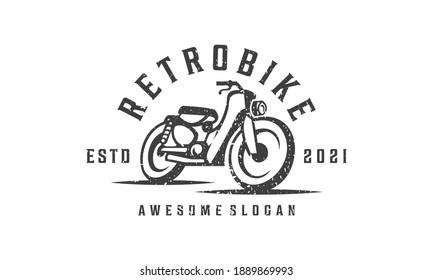 Retro Classic Vintage Motorcycle Logo Design