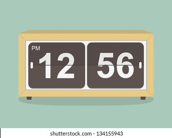 Retro clock. vector illustration