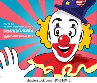 Retro clown design template
