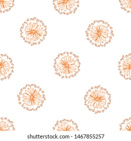 Retro collection for fabric design.Exotic wallpaper.Colorful color artsy chamomily in vintage style