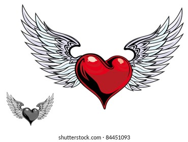 heart with wings images stock photos vectors shutterstock rh shutterstock com heart wing tattoo meaning heart wing tattoo meaning