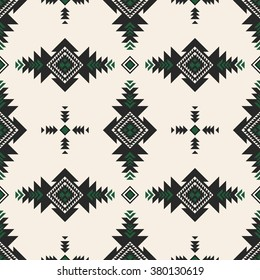 retro color tribal Navajo vector seamless pattern. aztec fancy abstract geometric art print. ethnic hipster backdrop. Wallpaper, cloth design, fabric, paper, cover, textile design template.