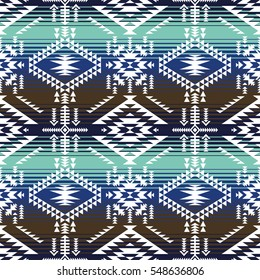 retro colors tribal vector seamless navajo pattern. aztec abstract geometric art print. ethnic hipster vector background. Wallpaper, cloth design, fabric, paper, cover, textile.
