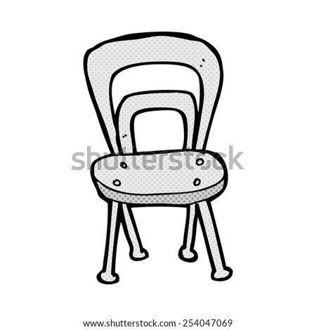 Surprising Retro Comic Book Style Cartoon Chair Stock Vector Royalty Download Free Architecture Designs Scobabritishbridgeorg