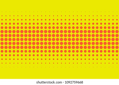 Retro comic style red and yellow halftone pattern background texture, round spot shapes, vintage or retro graphic, usable as decorative element.