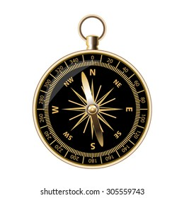 Retro compass for travels and tourists