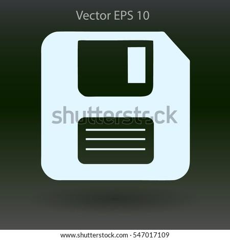 Retro Computer Diskette Vector Picture Stock Vector (Royalty Free