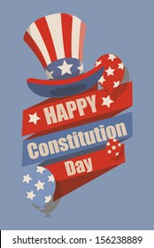 Retro - Constitution Day Vector Illustration