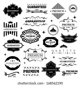 Retro Design Elements. Labels In Retro Style Isolated On White Background. Vector Illustration, Graphic Design Editable For Design.