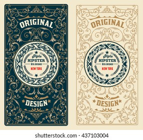 Retro Design with Floral Ornaments