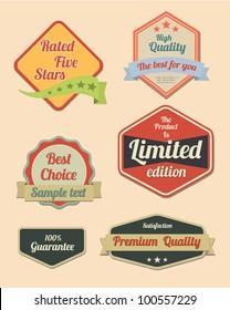 Retro design label set 2