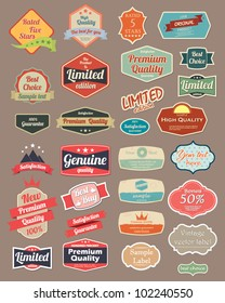 Retro design label set 4