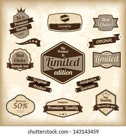 Retro design label set. Vector illustration